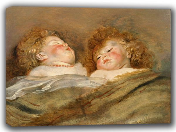 Rubens, Peter Paul: Two Sleeping Children. Fine Art Canvas. Sizes: A4/A3/A2/A1 (002128)